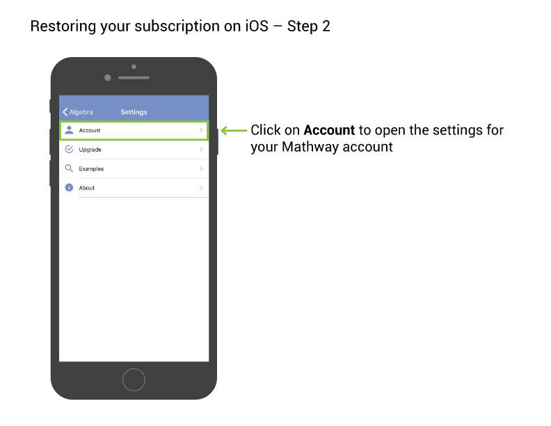 How do I restore subscription on an Apple device? – Mathway ... Mathway Account on