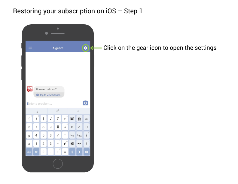 How do I restore subscription on an Apple device? – Mathway ... Mathway Billing on